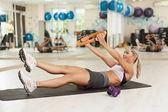 Abdominal exercises — Stock Photo