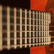 Guitar fretboard — Stock Photo