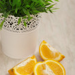 Oranges on the table — Stock Photo