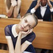 Sleepy students in class — Stockfoto #30009465