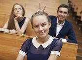 Photo of cheerful students — Stock Photo
