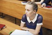 Estudiante enfocado — Foto de Stock