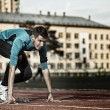 Foto Stock: Athlete in training