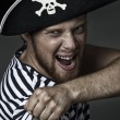 Pirate shouting — Stock Photo
