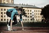 トレーニングの運動選手 — ストック写真