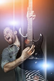 Expressive musician — Stock Photo