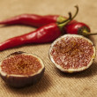 Chilli and figs — Stock Photo