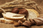 Assorted breads — Stock Photo