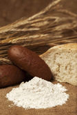 Flour and bakery products — Stock Photo