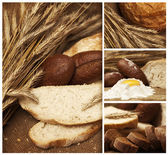 Bakery products in the collage — Stock Photo