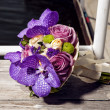 Foto Stock: Beautiful wedding bouquet