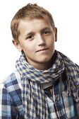 スカーフでトレンディな少年 — ストック写真