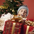 Stock Photo: The boy is happy gifts