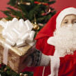 A boy dressed as santa — Lizenzfreies Foto