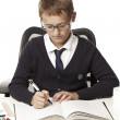 Boy do homework — Stock Photo