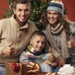 Foto Stock: Happy family at Christmas
