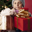 Happy boy on Christmas — Stockfoto
