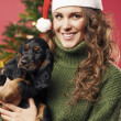 Pretty girl with a puppy — Stock Photo #33281233