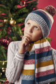 Boy dreaming about a gift — Stockfoto
