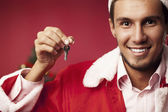 Keys to the apartment as a gift — Stock Photo