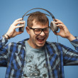 Playing loud music — Stock Photo #39027869