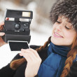 Girl is photographer — Stock Photo #39028359