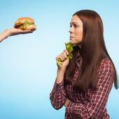 Girl and diet — Stock Photo