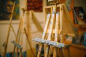 Cavalletto vuota in studio — Foto Stock