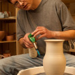 Making pitcher. Pottery. Finish — Stock Photo #39895375