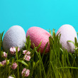 Colored eggs. Easter. — Stock Photo