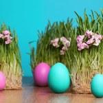 Colored eggs. April. — Stock Photo #40207793