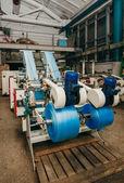 Flexo press for printing label. photo — Stock Photo