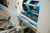 Flexo press for printing label. production — Stock Photo
