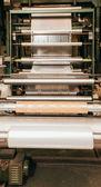 Flexo press for printing label. — Stock Photo