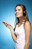 Beautiful girl with headphones41 — Stock Photo