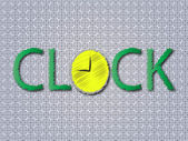 Clock — Vettoriale Stock