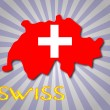 Swiss flag and map — Stock Vector #35694541