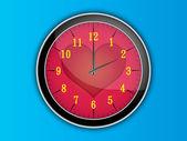 Love clock illustration — Stock Vector