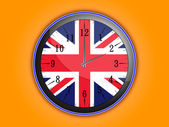 British style clock — Stock Vector