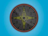 Uhr-abbildung — Stockvektor