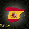 Spain flag and map — Stock Vector