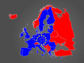 Europe map without names of countries — Wektor stockowy