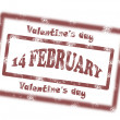 Valentine day stamp — Vettoriali Stock