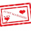 Royalty-Free Stock Vector Image: Just married stamp