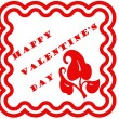 Valentine day stamp — Stock Vector