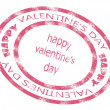 Valentine day stamp — Stock Vector #19831809