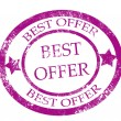 Best offer stamp - Imagen vectorial