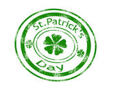 St.Patrick's Day stamp — Stock Vector