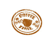 Coffee stamp — Stock Vector