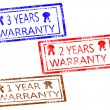 Stock Vector: Warranty stamps set